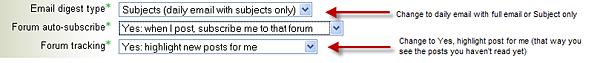 forum setting