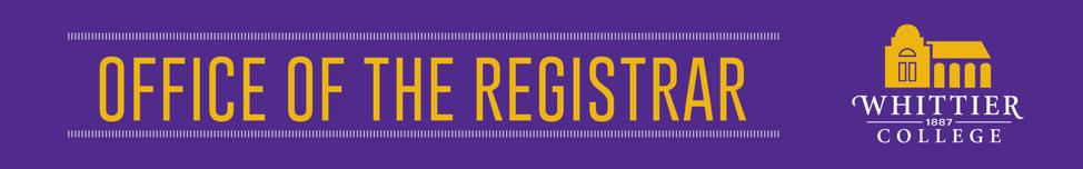 Registrar banner